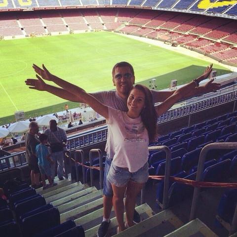 Marijana sa dečkom na stadionu Barselone! FOTO