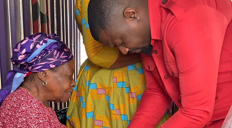 John Dumelo spends Val's Day with widows, promises to launch widows' association (PHOTOS)