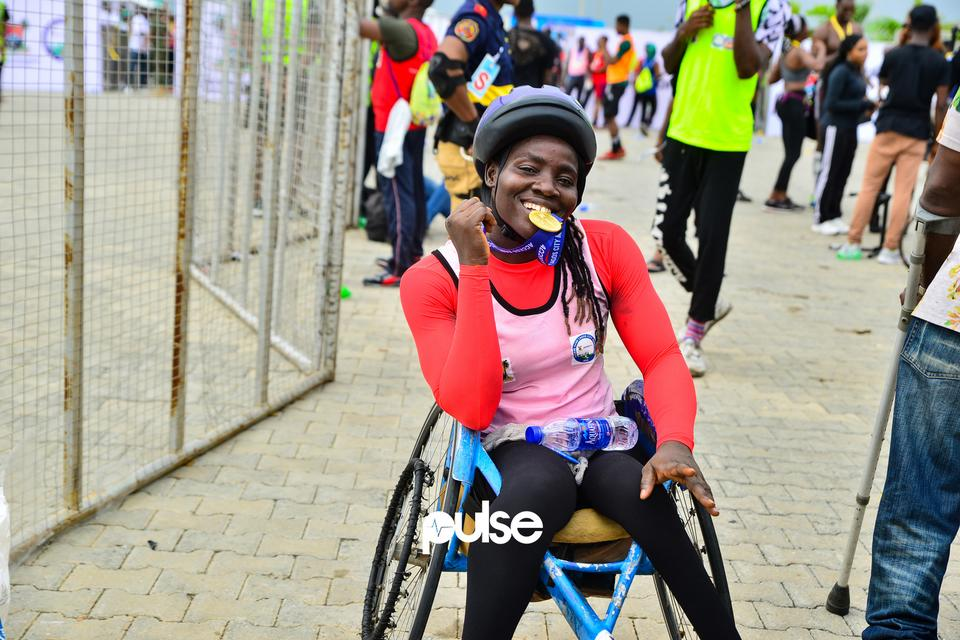 Physically challenged athlete at Access Bank Lagos City Marathon 2019