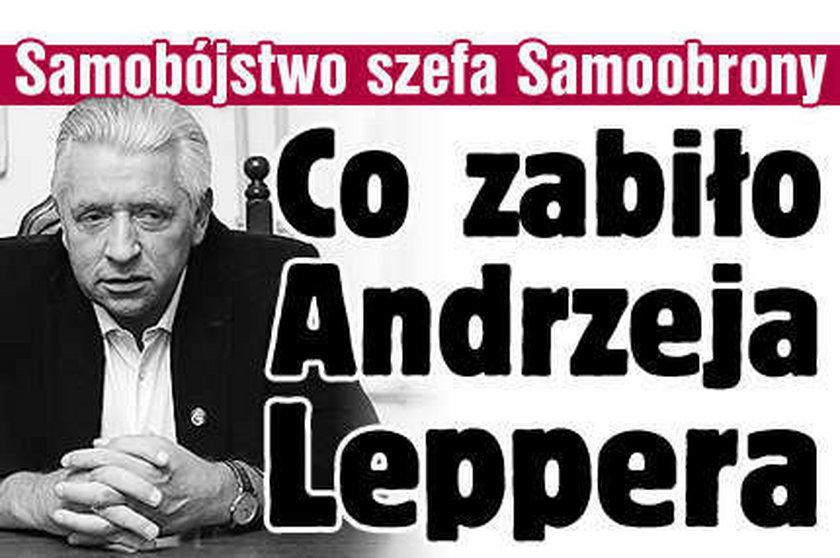 Co zabiło Leppera? Oto hipotezy