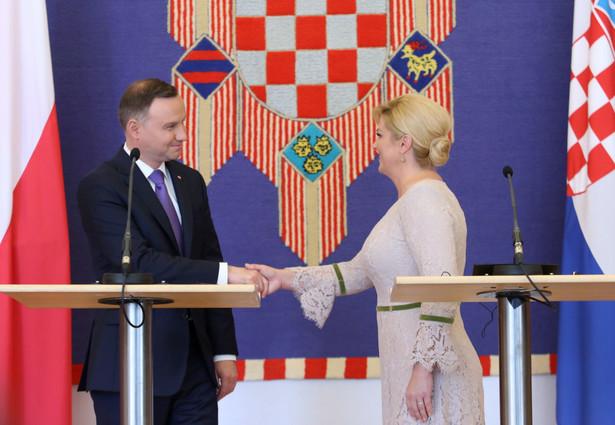 Prezydent Andrzej Duda i prezydent Republiki Chorwacji Kolinda Grabar-Kitarovic
