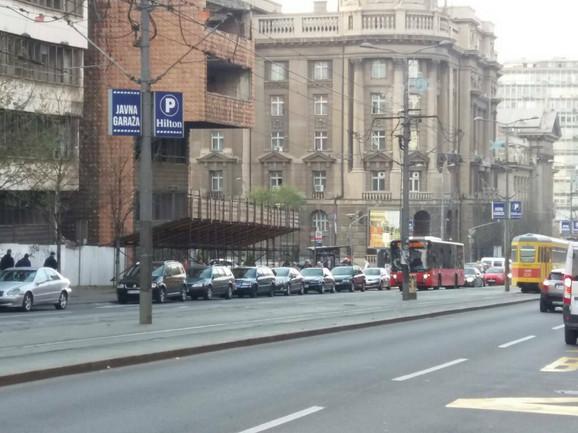 Blokirana traka u Nemanjinoj