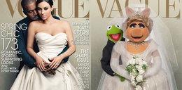 Internet kpi ze ślubnej okładki Kim Kardashian