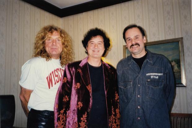 Wiesław Weiss, Robert Plant i Jimmy Page (fot. archiwum prywatne Wiesława Weissa)