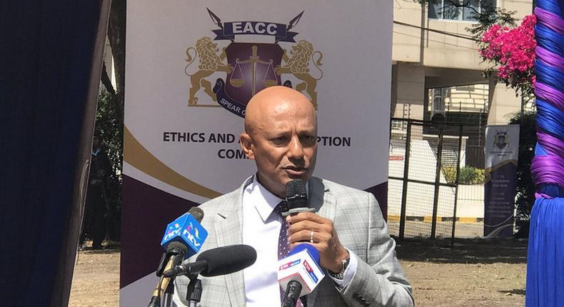 EACC's CEO Twalib Mbarak during a past media briefing