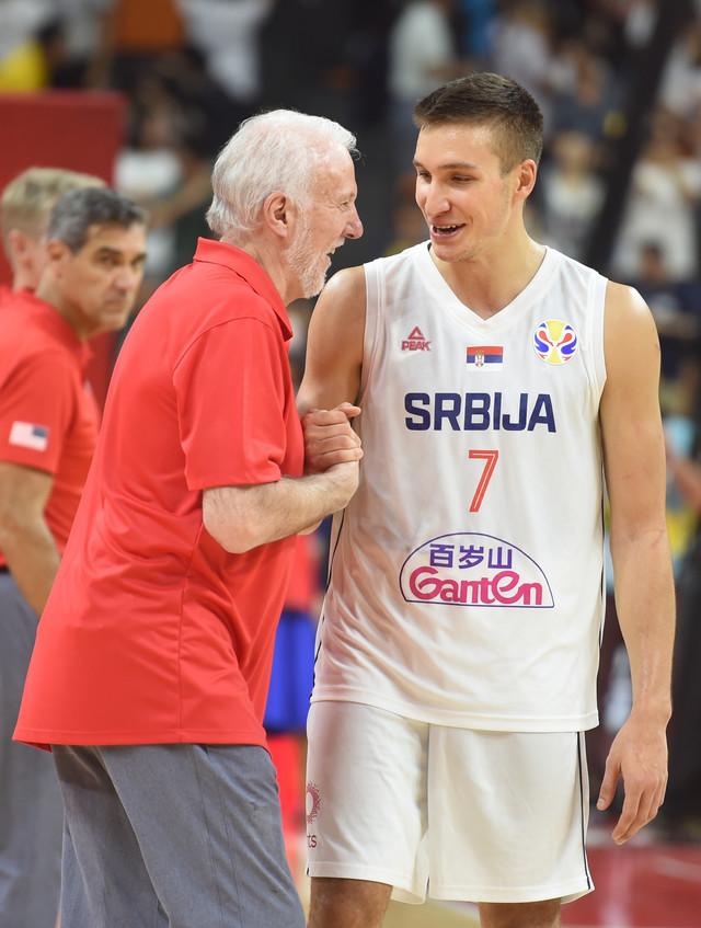 Greg Popovič i Bogdan Bogdanović na prošlom Mundobasketu u Kini