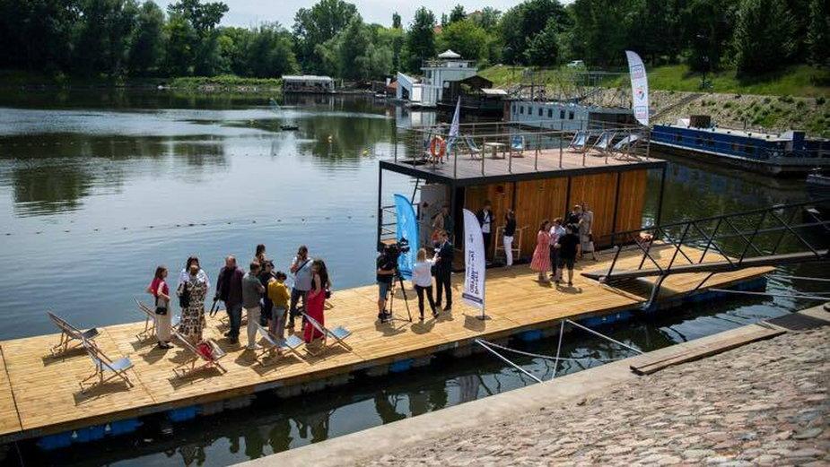 Pływająca sauna Wisła w Warszawie