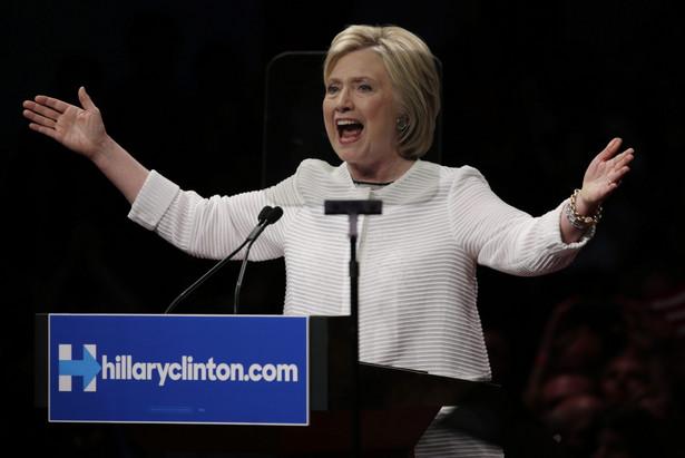 Hillary Clinton podczas konwencji wyborczej w Nowym Jorku.