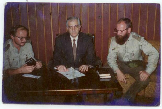 Dziennikarskie spotkanie z pierwszym prezydentem Gruzji