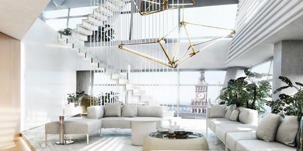 """Jak podaje biuro prasowe Złotej 44, średnia stawka za niżej położony, luksusowo wykończony apartament w """"żaglu"""" to ponad 30 tys. zł za mkw. Im wyżej, tym drożej. Nawet dwukrotnie. Co ciekawe, największą grupę kupujących apartamenty w Złotej 44 stanowią Polacy - głównie przedsiębiorcy."""