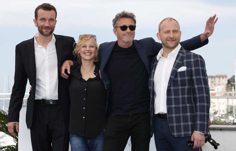 Tomasz Kkot, Joanna Kulig, Paweł Pawikowski i Borys Szyc w Cannes