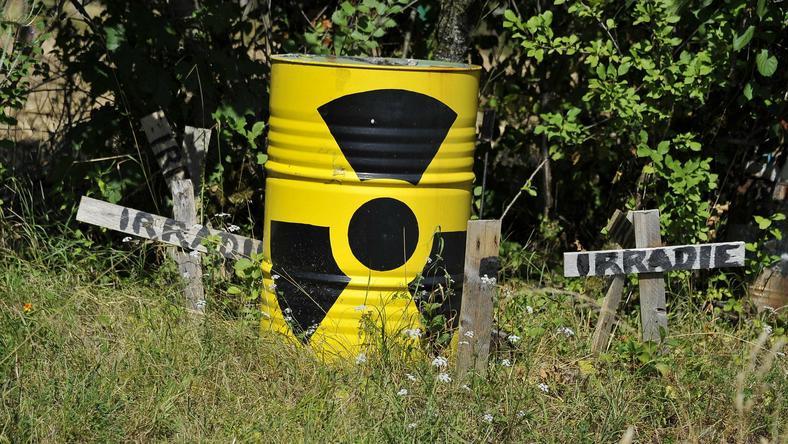 Beczka z odpadami radioaktywnymi we Francji