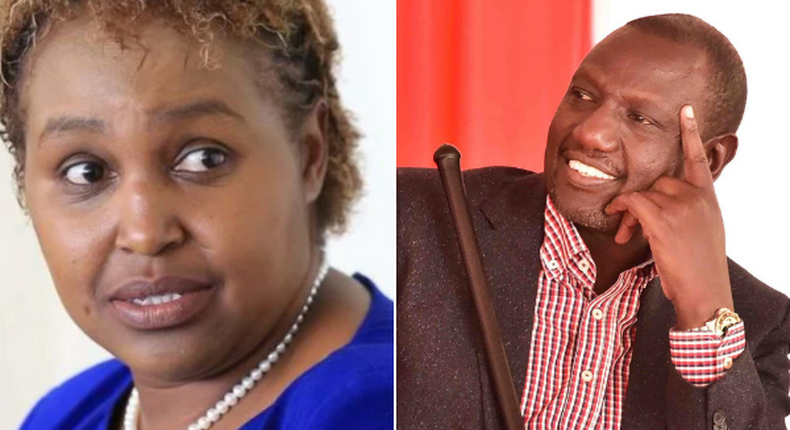 Former chief-of-staff Maryanne Kitany and Deputy President William Ruto