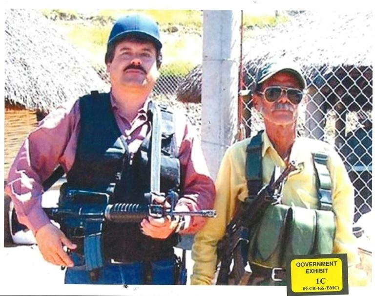 "This undated photo released by the US Justice Department shows Mexican drug lord Joaquin ""El Chapo"" Guzman (L)"