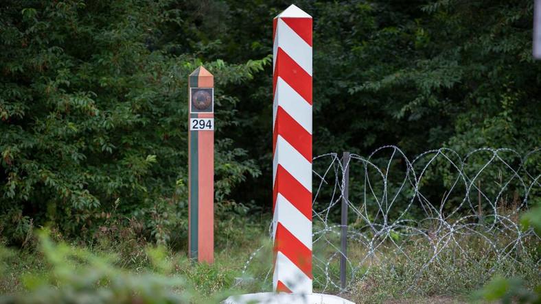 Płot na granicy z Białorusią