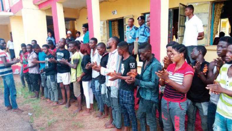 Police in Edo arrest 81 suspected cultists in 40 days (Illustrative purpose)