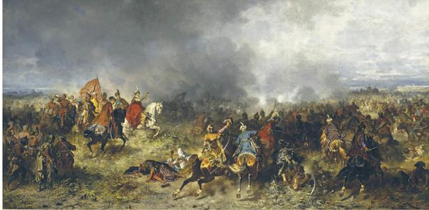 """""""Chodkiewicz pod Chocimiem"""", obraz Józefa Brandta z 1867 r."""