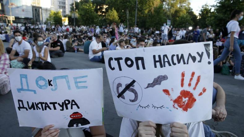 Protest w Belgradzie