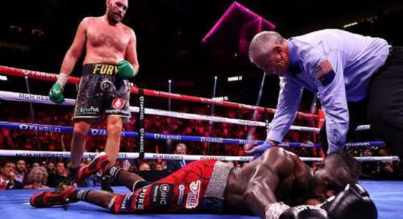 Fury defeats Wilder in 11th round knockout to retain WBC title. (ModernGhana)
