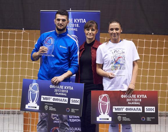 Najbolji u finalima Kupa: Irfan Hamzagić i Jovana Jovičić