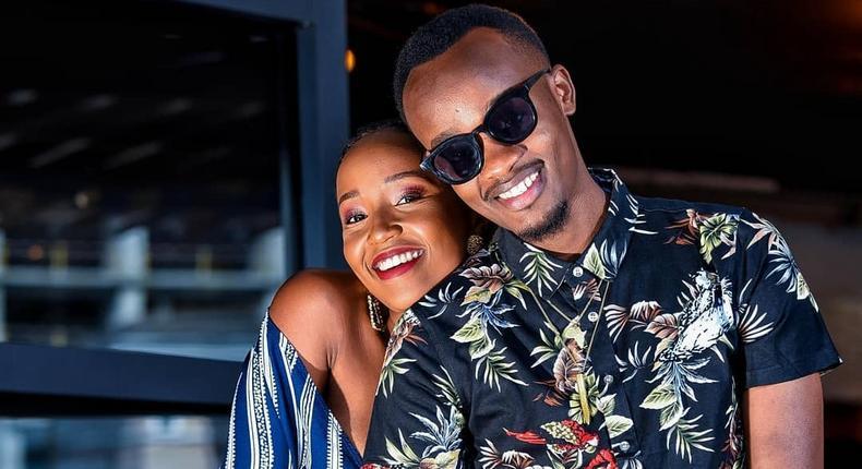 Singer Ben Cyco with girlfriend Wanjiru Njiru
