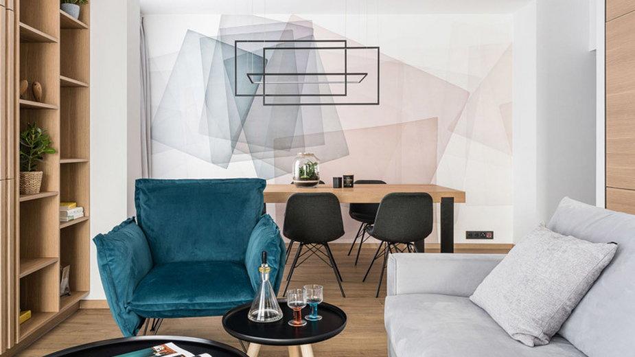 Ciepłe i przytulne wnętrza mieszkania