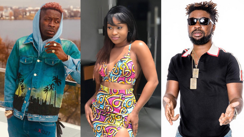 Shatta Wale, Efia Odo and Late Junior US