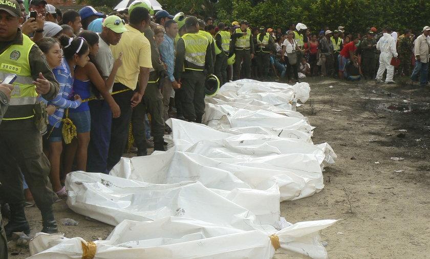 Pożar autobusu z dziećmi w Kolumbii