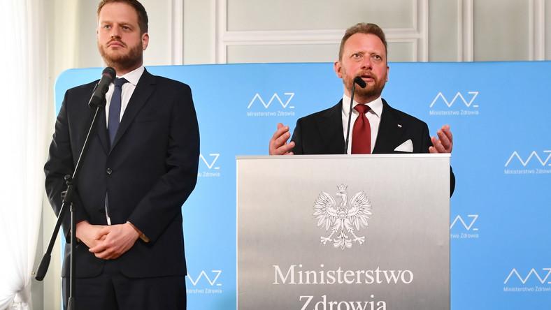 Łukasz Szumowski i Janusz Cieszyński