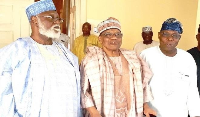 Former military presidents Abubakar, IBB and Obasanjo (Premium Times)