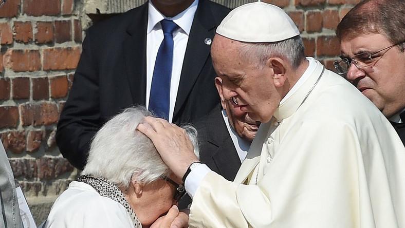 Spotkanie papieża z byłymi więźniami Auschwitz