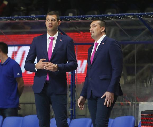 Goran Ćakić i trener košarkaša Mege Dejan Milojević