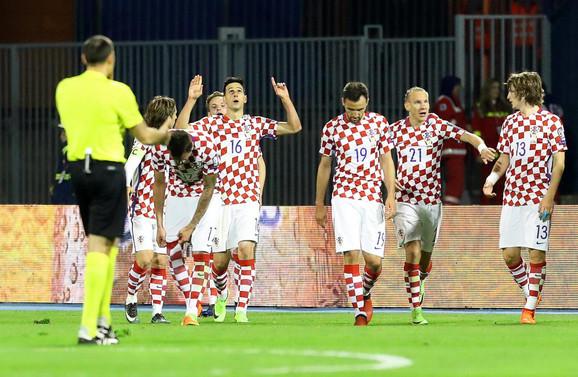 Fudbalska reprezentacija Hrvatske slavi gol za trijumf nad Ukrajincima