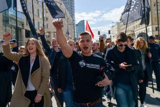 1 maja manifestowała Młodzież Wszechpolska - były kontrmanifestacje