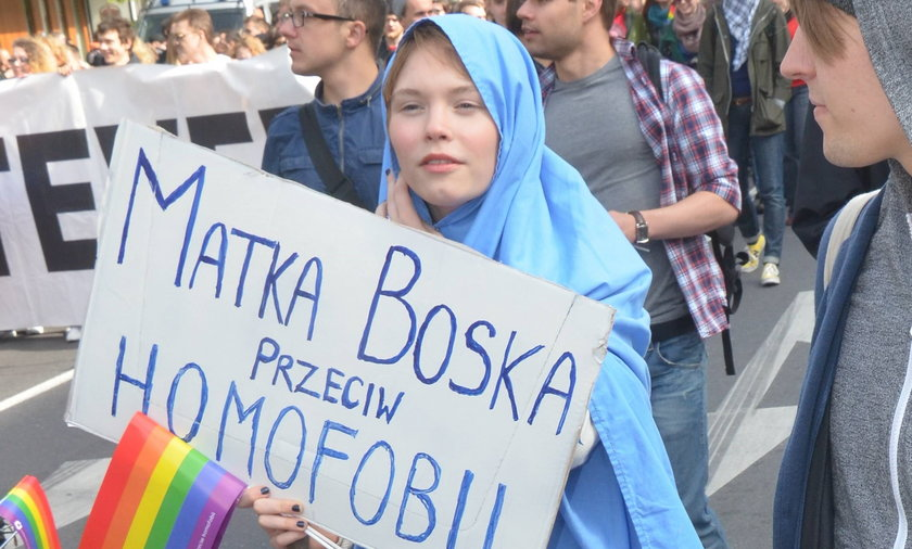 Agata Trzebuchowska na Paradzie Równości