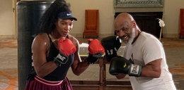 Gwiazda tenisa włożyła rękawice bokserskie. Tyson pod wrażeniem
