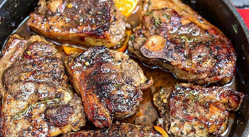How to grill black pepper lamb chops
