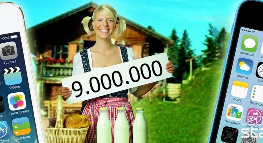 9 Millionen iPhone 5S und 5C am ersten Wochenende verkauft