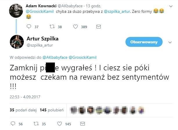 Odpowiedź Artura Szpilki