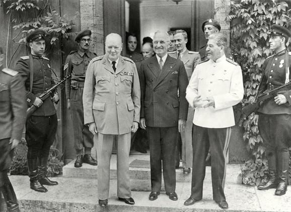 Čerčil, Truman i Staljin