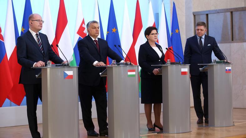 Bohuslav Sobotka, Viktor Orban, Beata Szydło, Robert Fico