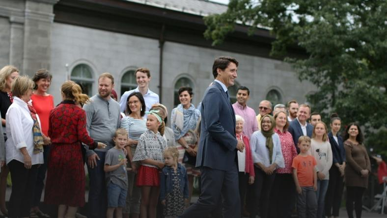 Liberal Party leader and Prime Minister Justin Trudeau kicks off his campaign for Canada's October 21 general elections