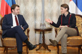 Ana Brnabić i Maksim oreskin, foto Tanjug, Kabiner predsednice valde