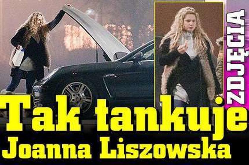Tak tankuje Joanna Liszowska. ZDJĘCIA
