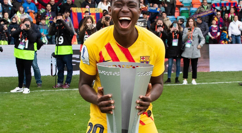 Super Falcons captain Asisat Oshoala wins league title with Barcelona Femení after women's Spanish league was cancelled due to coronavirus pandemic