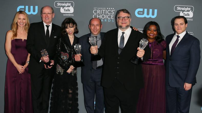 "Critics Choice Awards 2018: twórcy filmu ""Kształt wody"""