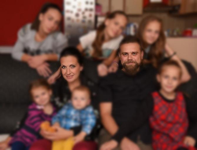 Ana Spasić sa porodicom