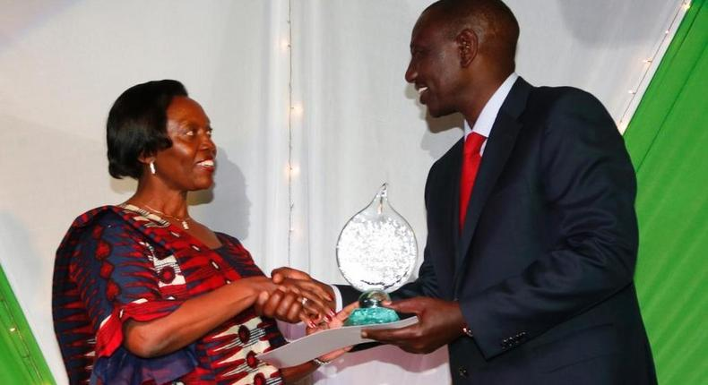 Narc Kenya leader Martha Karua and Deputy President William Ruto