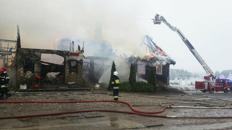 W akcji w Egiertowie brały udział 22 zastępy straży pożarnej