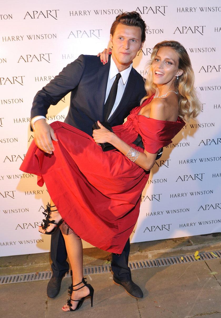 Anja Rubik i Sasha Knezevic we wrześniu 2011 roku